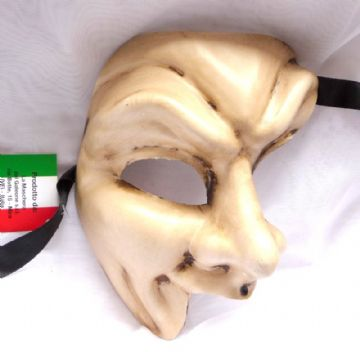 Genuine Venetian Cream Phantom Joker half Mask